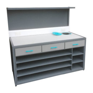 High Backed Modern Grey Packing Station