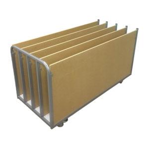 Wood Divider Rack Trolley