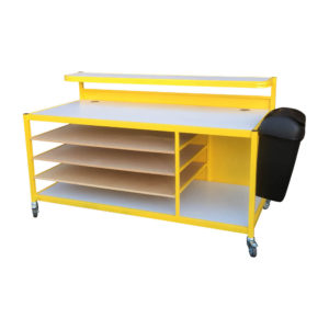 Packing Bench With Side Bin