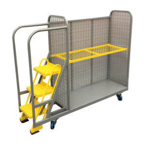 Step Trolley With Mesh Back