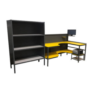 Packing Bench With Additional Bookcase Storage