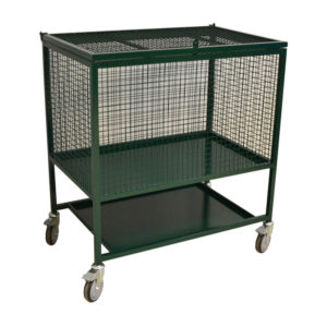 Container Trolley With Bottom Shelf