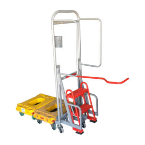 Tall Frame Dolly Pusher With Steps