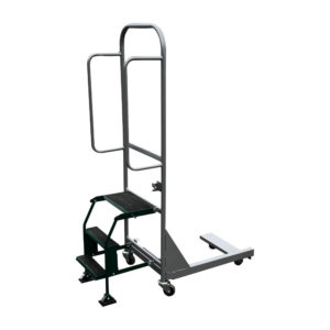 Black and Grey Dolly Pusher With Steps Down