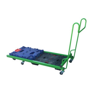 Green Frame Dolly Pusher Trolley