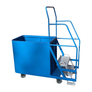 Step Trolley With Spring Loaded Box
