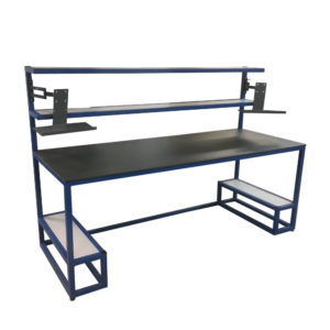 Large Workbench With Monitor Stands