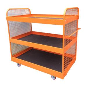 Large Orange 3 Tier Trolley 2