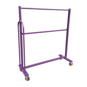 Purple Powder Coated Double Tier Clothes Rail