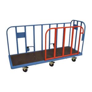 Large Platform Trolley With Red Barrier Side