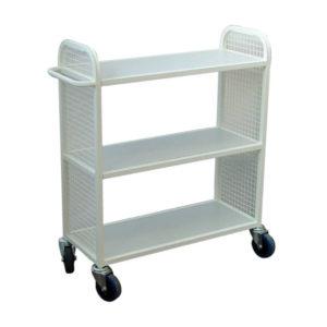 Steel Flat Shelf Mesh Trolley