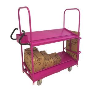 Pink Shelf Stock Trolley