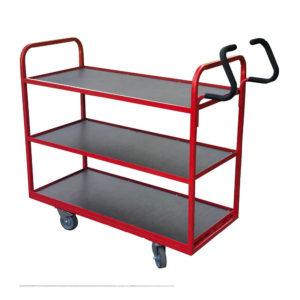 Standard Red Flat Shelf Trolley