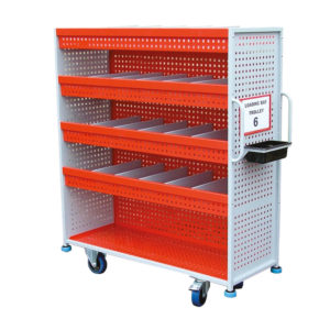 Mesh Shelf Trolley With Built In Dividers