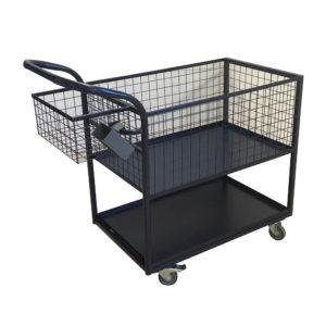 Trolley Basket With Bottom Shelf