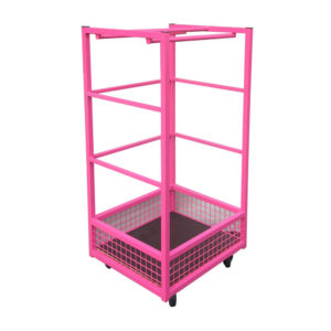 Square Clothes Rail With Mesh Basket Base