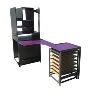 Z Packing Bench With Storage Tower