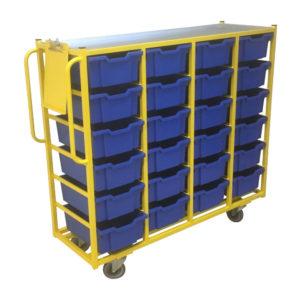 24 Box Trolley Yellow Frame