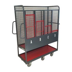 Labelled Cage Trolley With Compartments