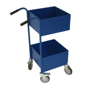 Solid Container Two Tier Box Trolley