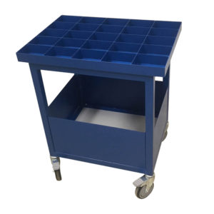 Tray Top Trolley With Dividers