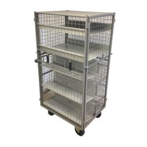 Multi Shelf Secure Cage Trolley