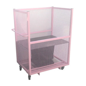 Pink Cage Spring Loaded Trolley