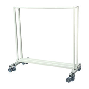 Simple Double Tier Clothes Rail Nested