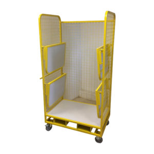 Fold Down Shelf Open Front Security Cage